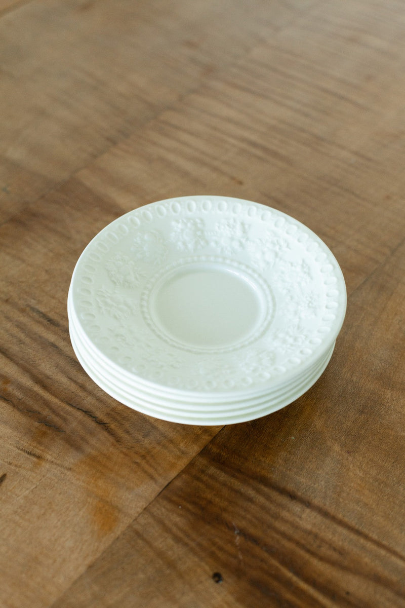 Set of Five White Small Plates - Fallow Home.