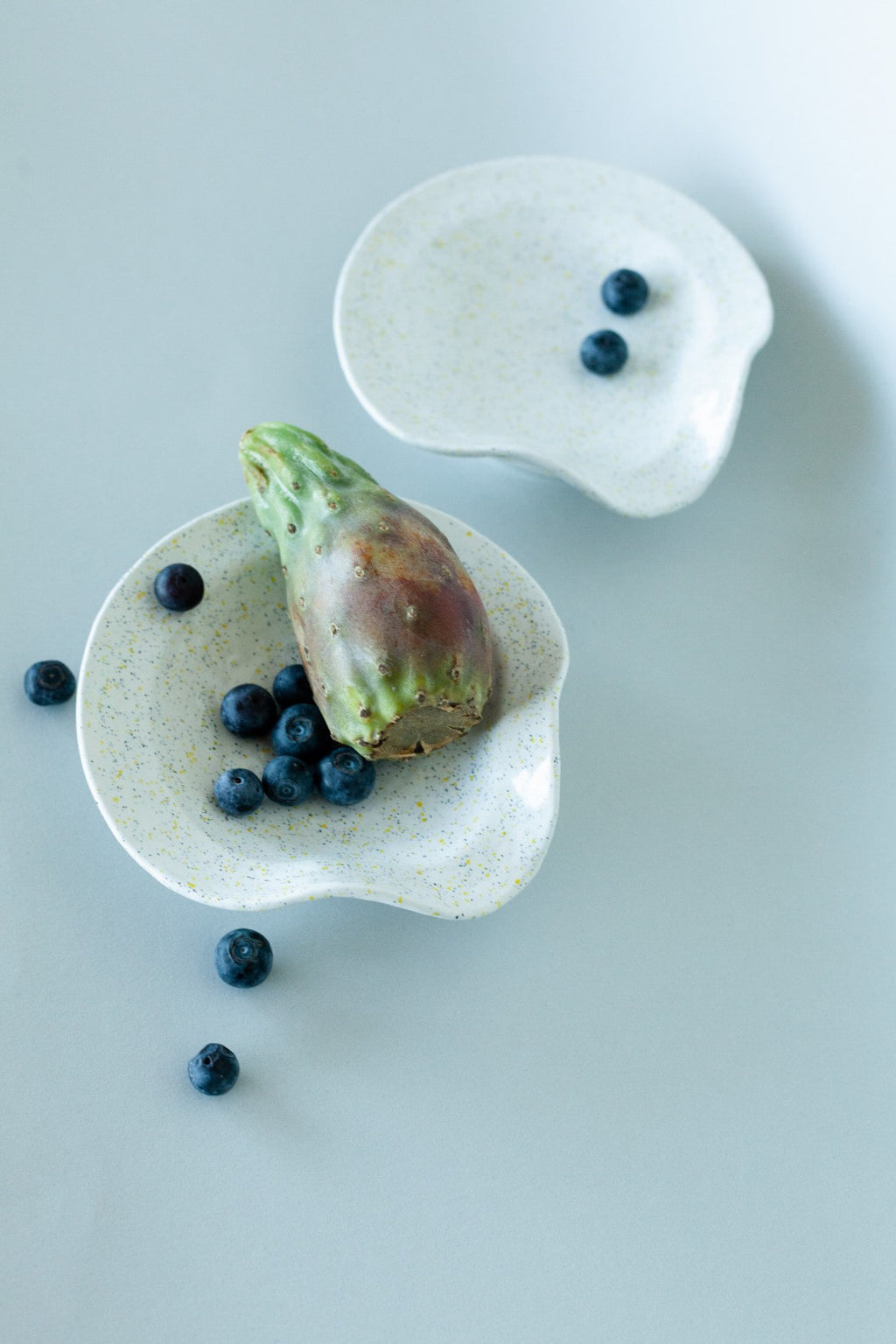 Set of 2 Speckled Ceramic Curved Small Plates - Fallow Home.