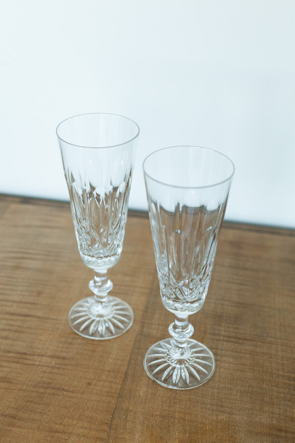 Set of 2 Crystal Champagne Glasses - Fallow Home.