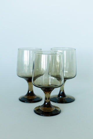 Set of 2 Short Glass Round Cups