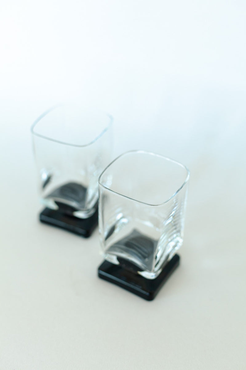 Set of 2 Square Based Cocktail Glass - Fallow Home.