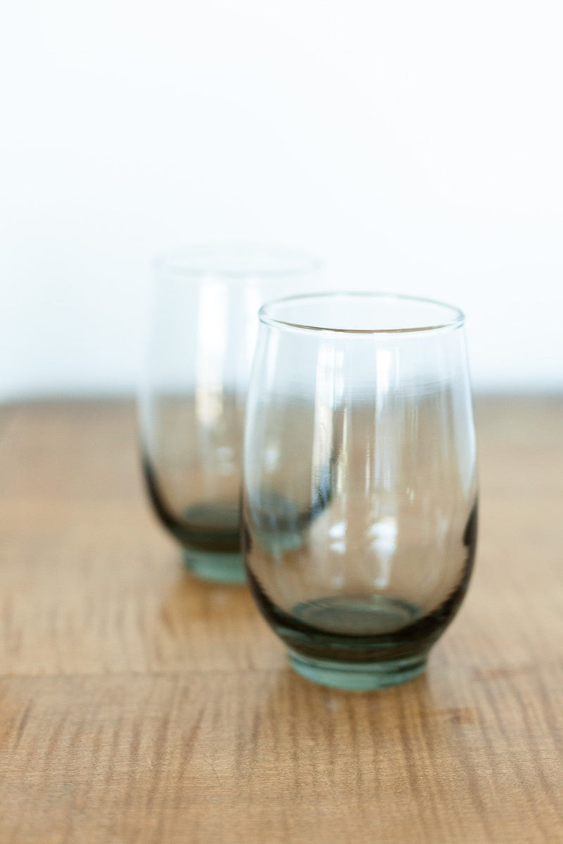 Set of 2 Tinted Grey Glasses - Fallow Home.