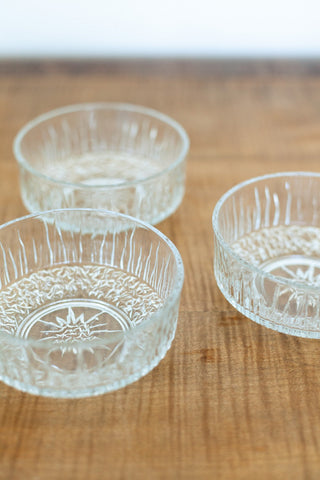 Set of 4 French Arcopal Glass Ramekins
