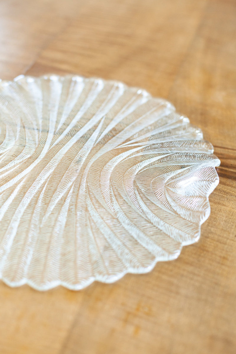 Textured Glass Serving Platter - Fallow Home.