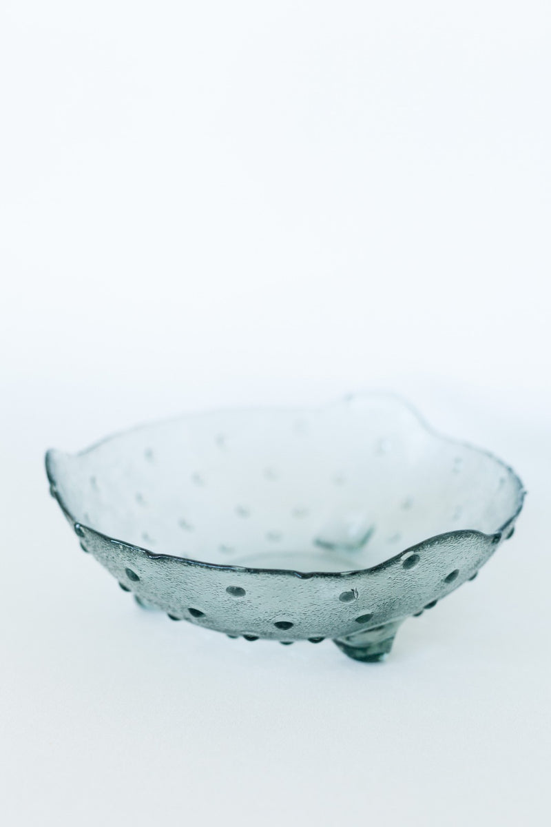 Dotted Glass Serving Bowl - Fallow Home.