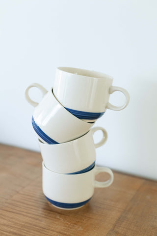 Set of 2 Interlocking Ceramic Face Mugs