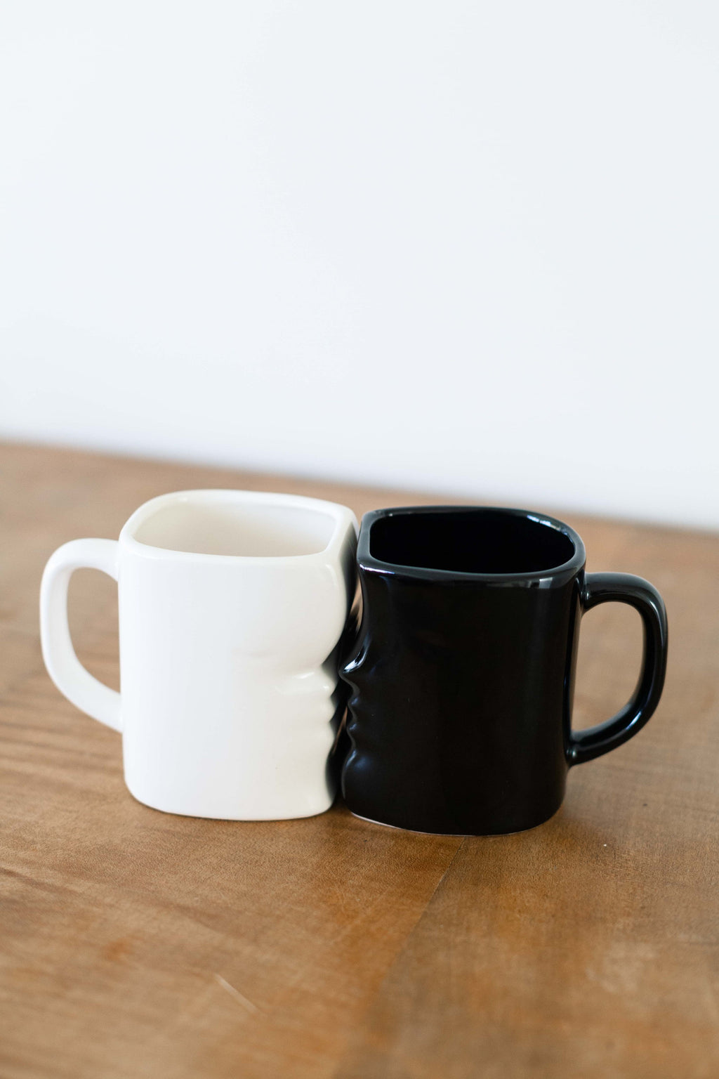 Set of 2 Interlocking Ceramic Face Mugs - Fallow Home.
