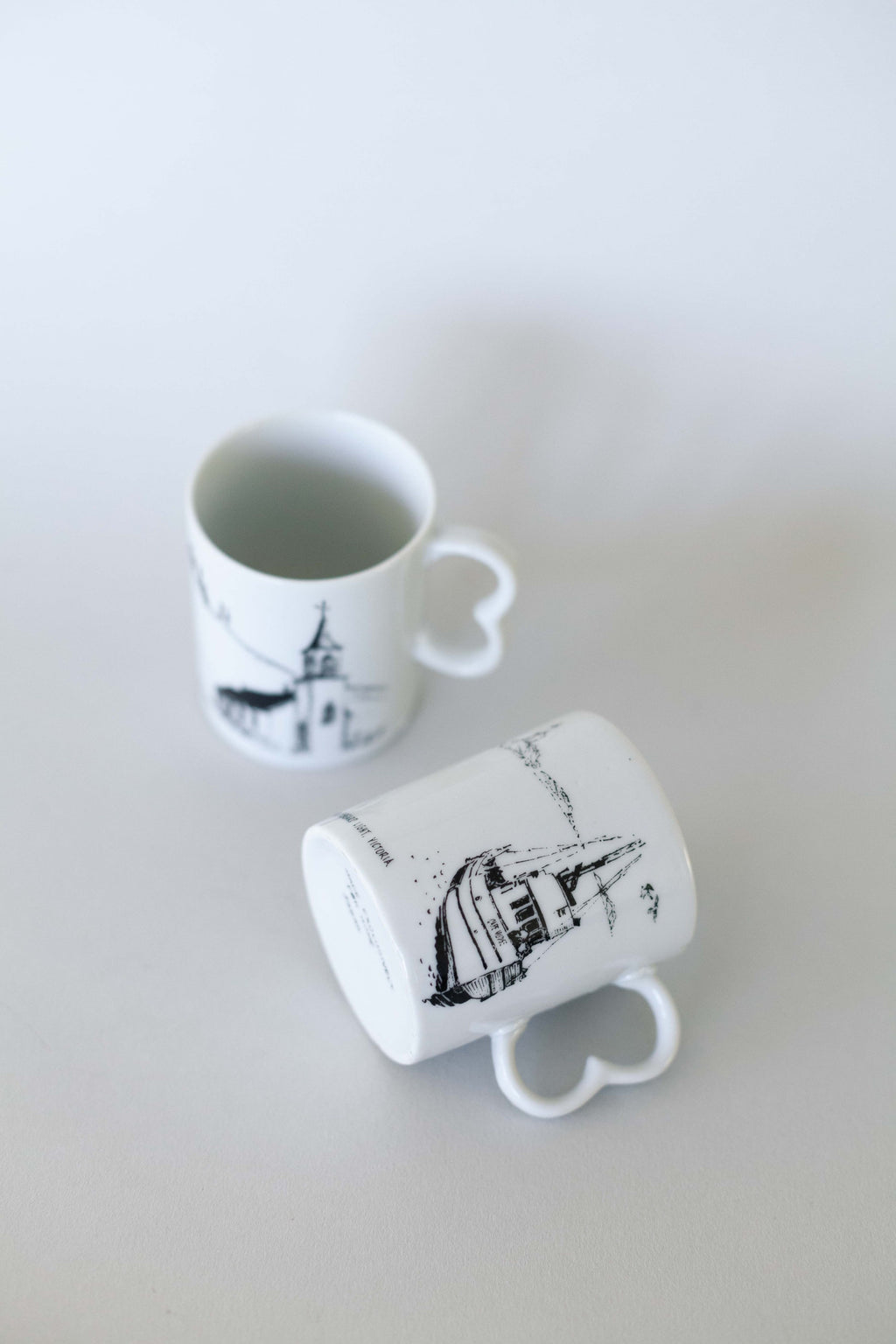 Set of Two Japanese Illustrated Mugs - Fallow Home.