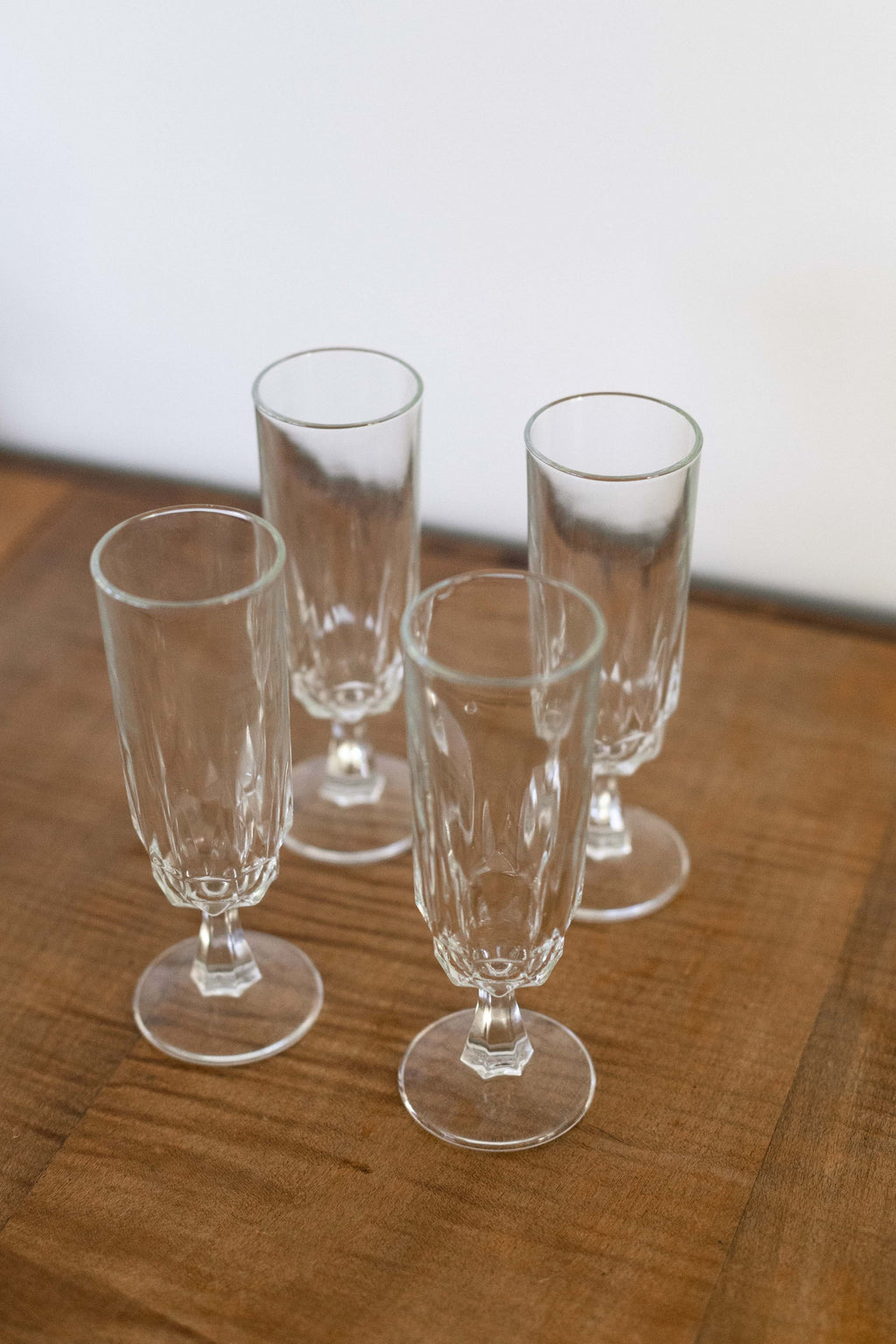 Set of 4 Crystal Glass Stemware - Fallow Home.