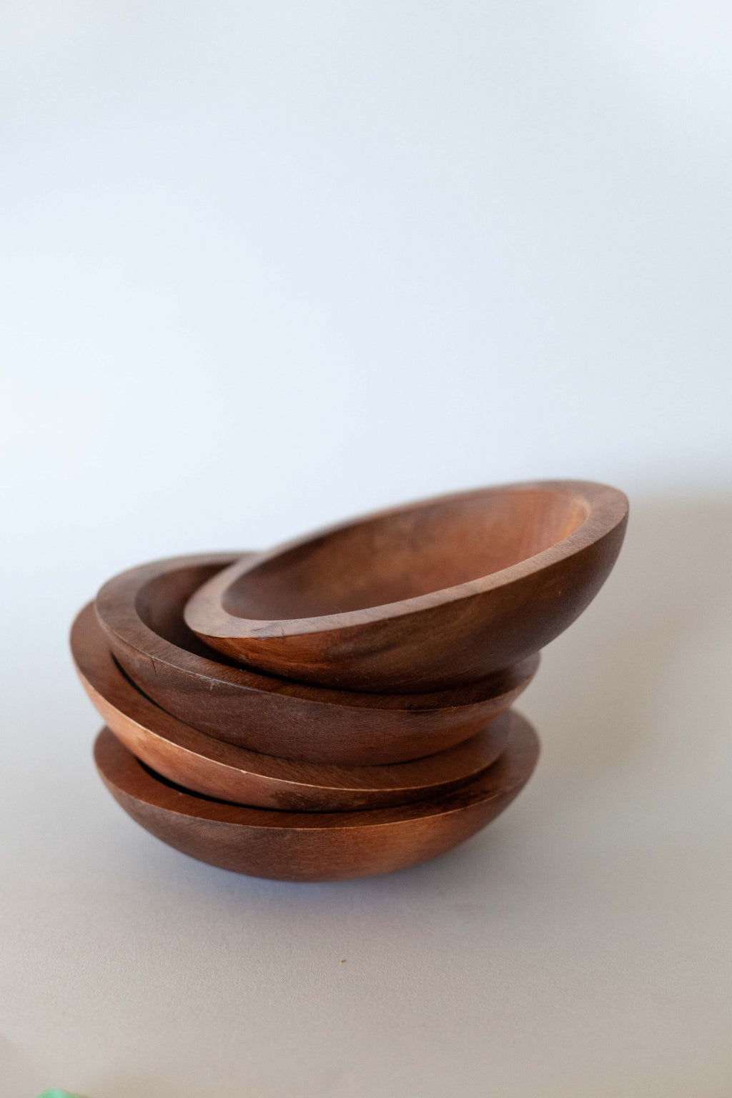 Set of 4 Baribocraft Wood Bowls - Fallow Home.