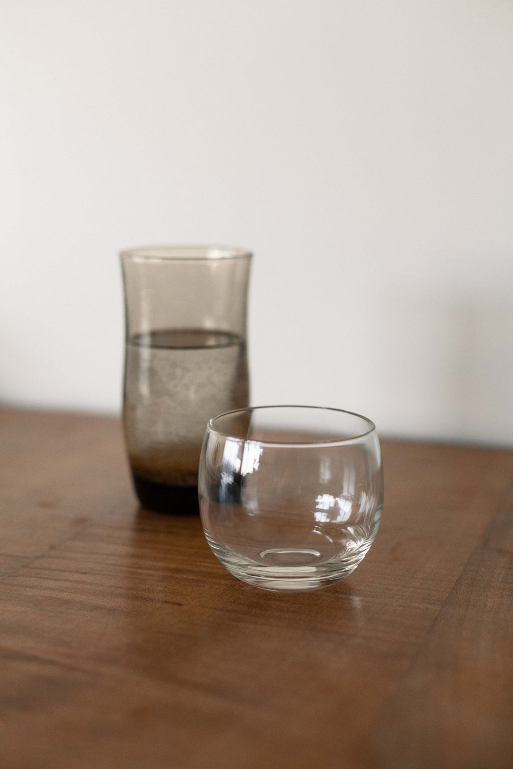 Set of 2 Short Glass Round Cups - Fallow Home.