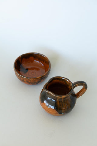 Set of Two Handmade Blue Ceramic Mugs
