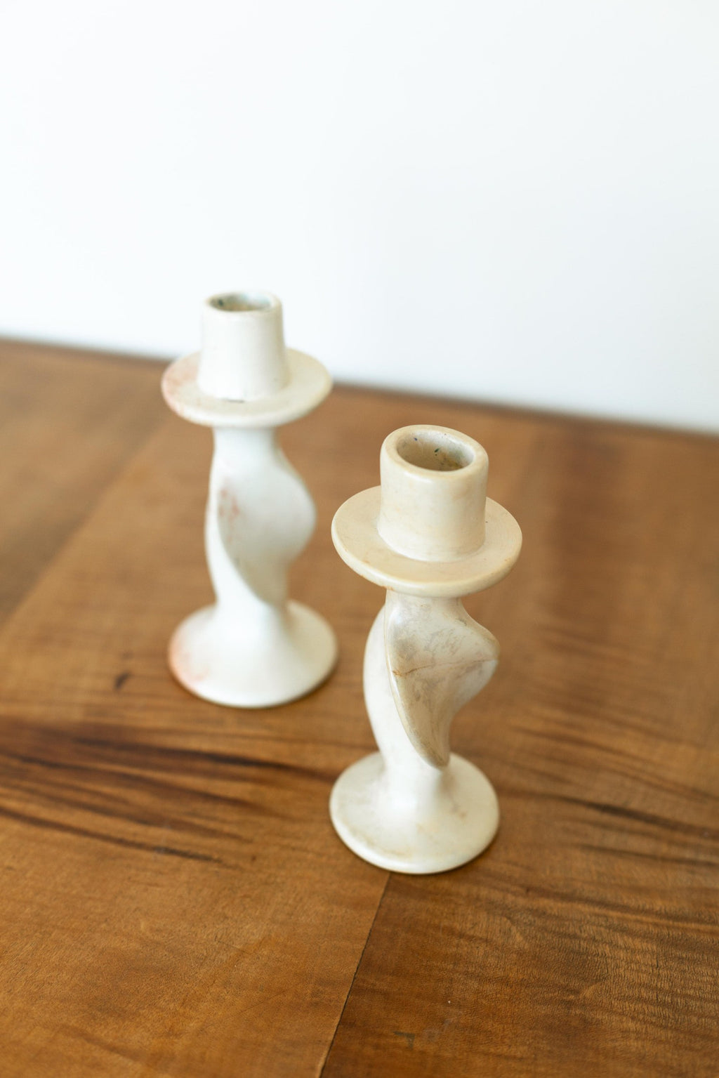 Set of 2 Stone Candleholders - Fallow Home.