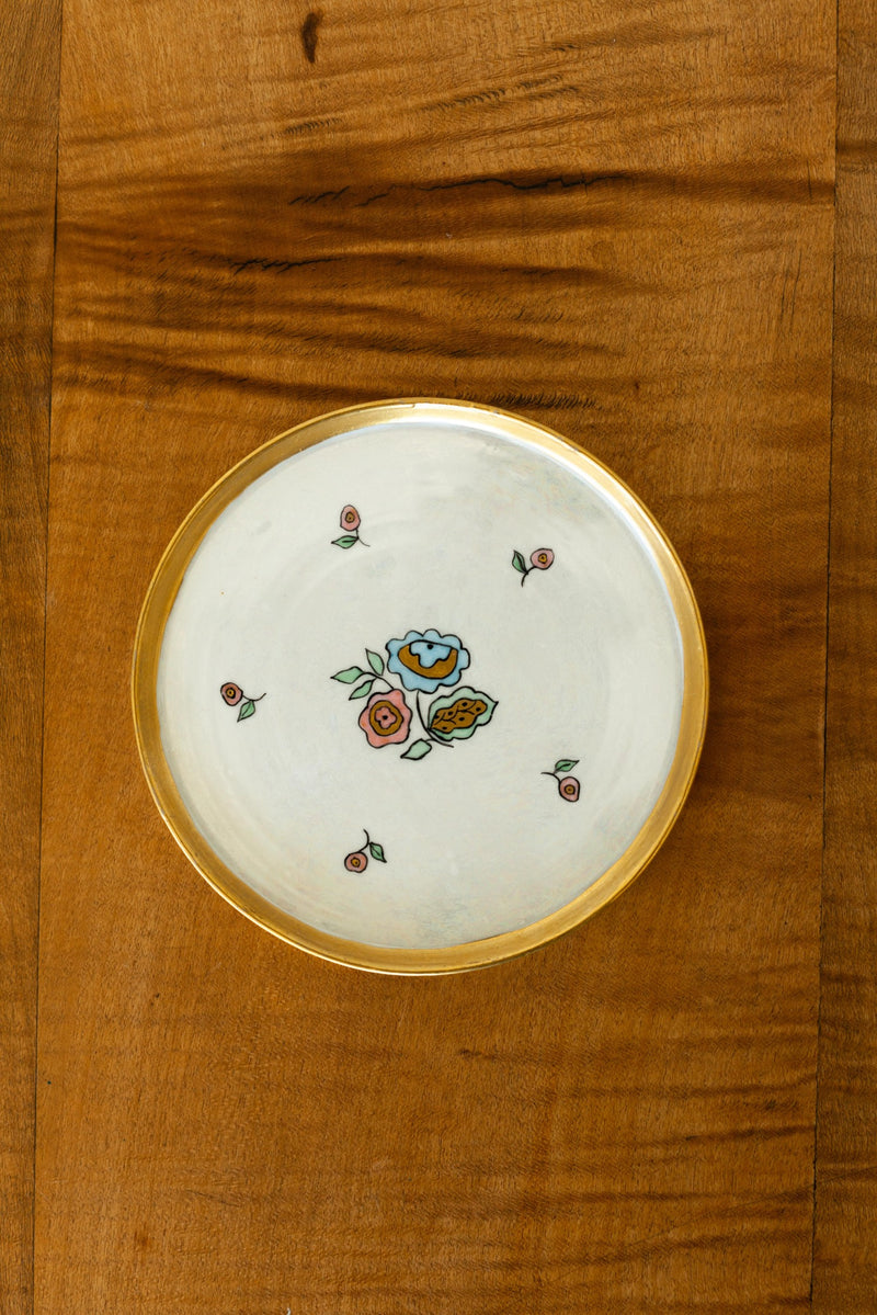 Japanese Ceramic Floral Tray - Fallow Home.
