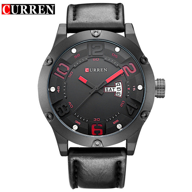 Curren Brand Men Fashion Casual Watches Men Sport Military Quartz Analog Date Clock Man men Wristwatch leather