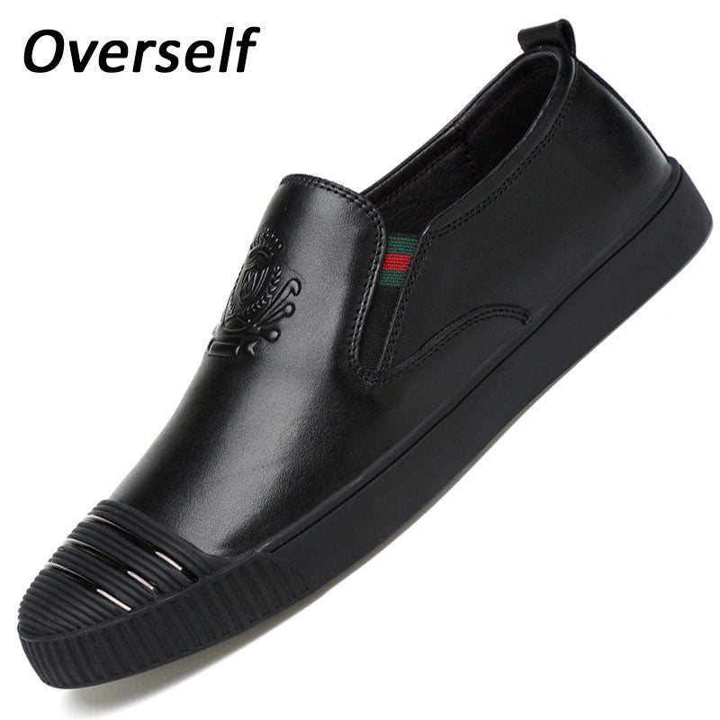 men's dress shoes formal mens shoes genuine leather Men round toe leather flats wedding shoes men yellow black large size 6.5-12