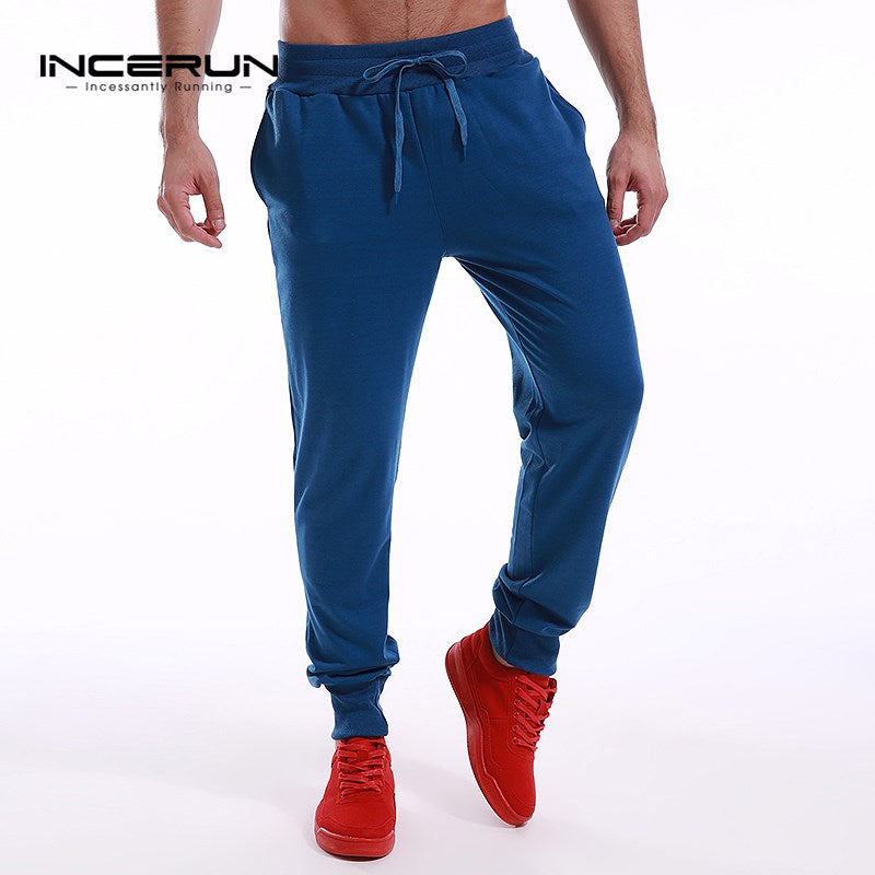 INCERUN 2017 Men's Pants Long Sweatpants Trousers Male Tracksuit Bottoms For Mens Casual High Quality Joggers Slacks