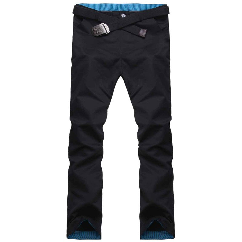 2017 Men Fashion Solid Pantalon Homme Spring Autumn Long Pants Casual Slim Fit Trousers Stylish Design 5 Color Plus Size 30-34