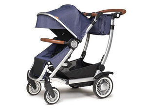 Austlen Entourage Stroller with Market Tote in Navy - Urban Stroller