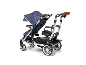 Austlen Entourage Sit+Stand Double Stroller in Navy - Urban Stroller