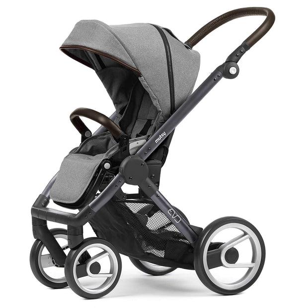 Mutsy Evo Farmer Stroller in Mist with Dark Grey Frame - Urban Stroller