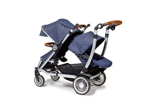 Austlen Entourage Double Stroller with Second Seat in Navy - Urban Stroller