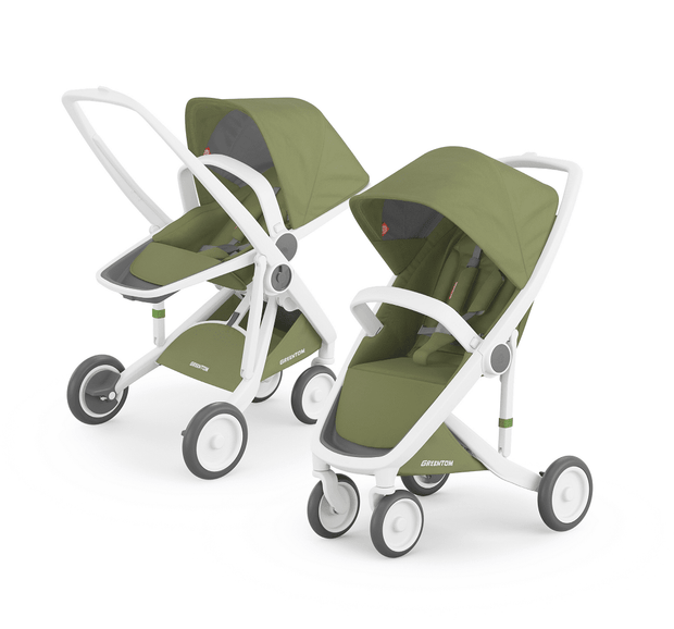 Greentom 2-in-1 Reversible & Classic with White Frame - Urban Stroller