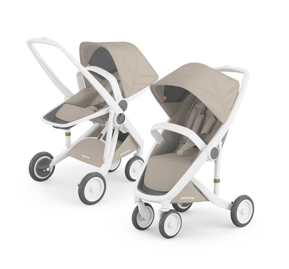 Greentom Reversible & Classic with White Frame - Urban Stroller