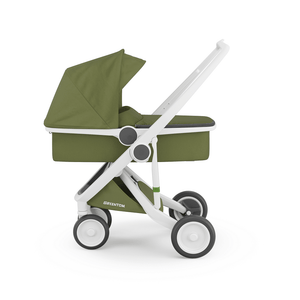 Greentom Carrycot Stroller with White Frame - Urban Stroller