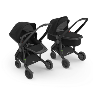 Greentom 2-in-1 Carrycot & Reversible with Black Frame - Urban Stroller