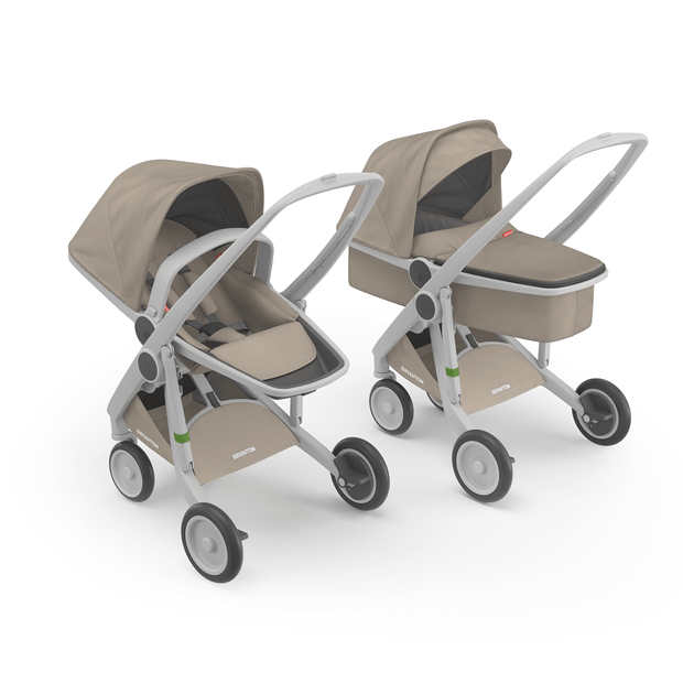 Greentom 2-in-1 Carrycot & Reversible with Grey Frame - Urban Stroller
