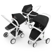 Greentom 3-in-1 Complete Stroller with White Frame - Urban Stroller