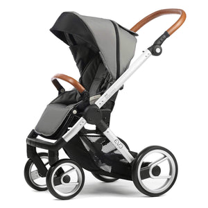 Mutsy Evo Urban Nomad Stroller in Light Grey with Silver Frame - Urban Stroller