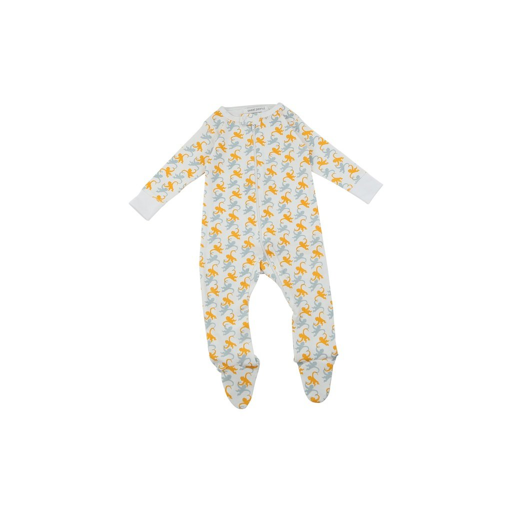 footed pajamas in monkeys - Urban Stroller