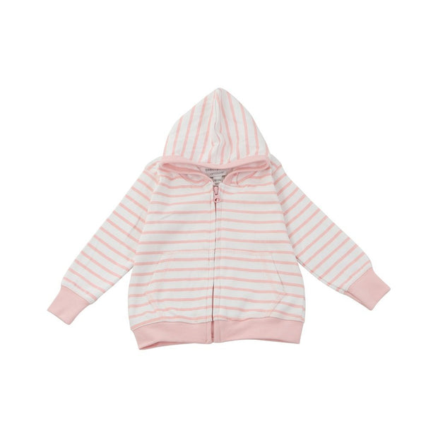 hoodie in light pink marseille stripe - Urban Stroller