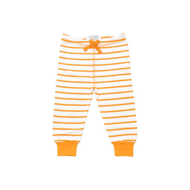 cozy pants in orange marseille stripe - Urban Stroller