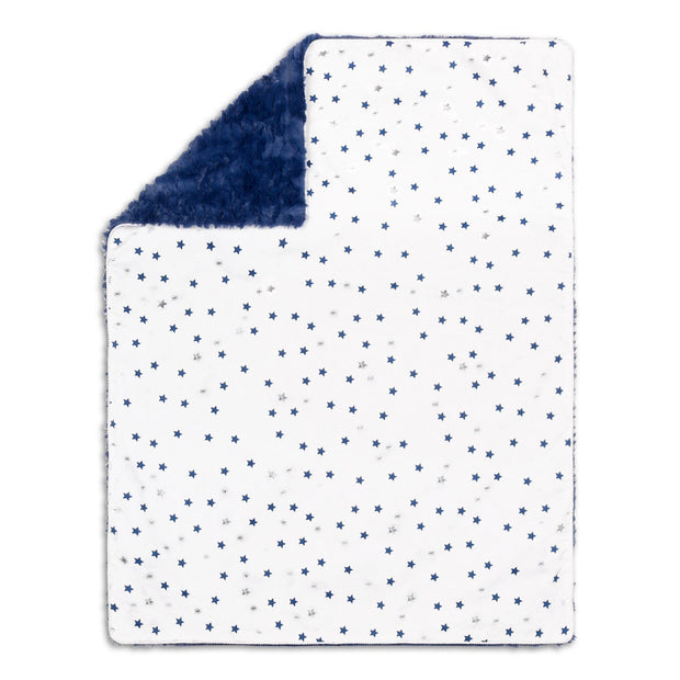 The Peanutshell Navy Stars Blanket - Urban Stroller