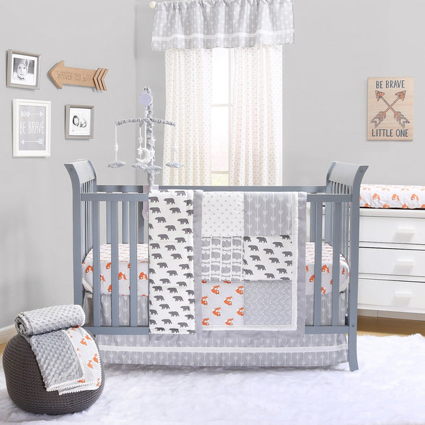 The Peanutshell Grey Woodland Crib Bedding Set - Urban Stroller