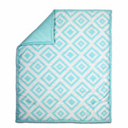 The Peanutshell Diamond Zeal Crib Starter Set In Teal - Urban Stroller