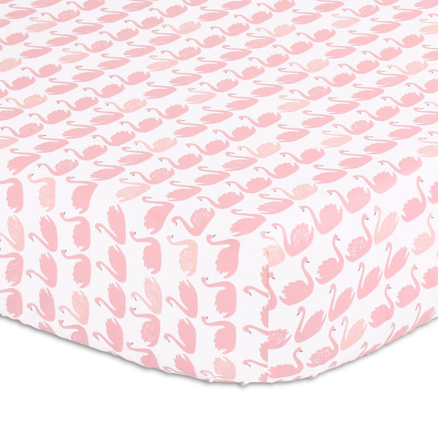 The Peanutshell Coral Pleated Crib Bedding Set - Urban Stroller
