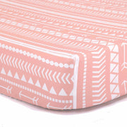 The Peanutshell A Tribe Called Cute Crib Starter Set In Coral - Urban Stroller