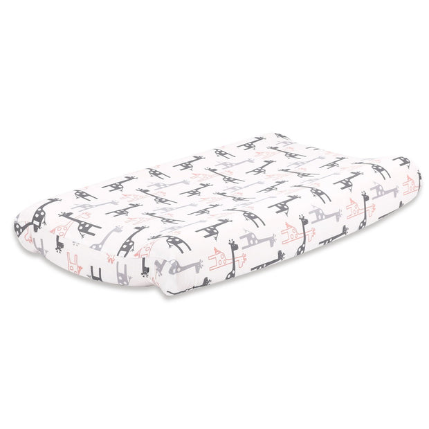 The Peanutshell Uptown Girl Giraffe Changing Pad Cover - Urban Stroller