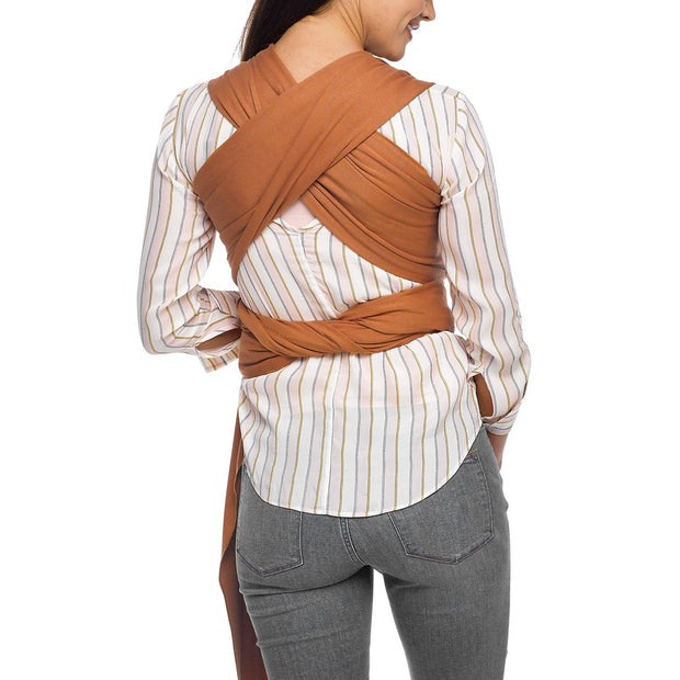 Moby Evolution Wrap Baby Carrier in Caramel - Urban Stroller