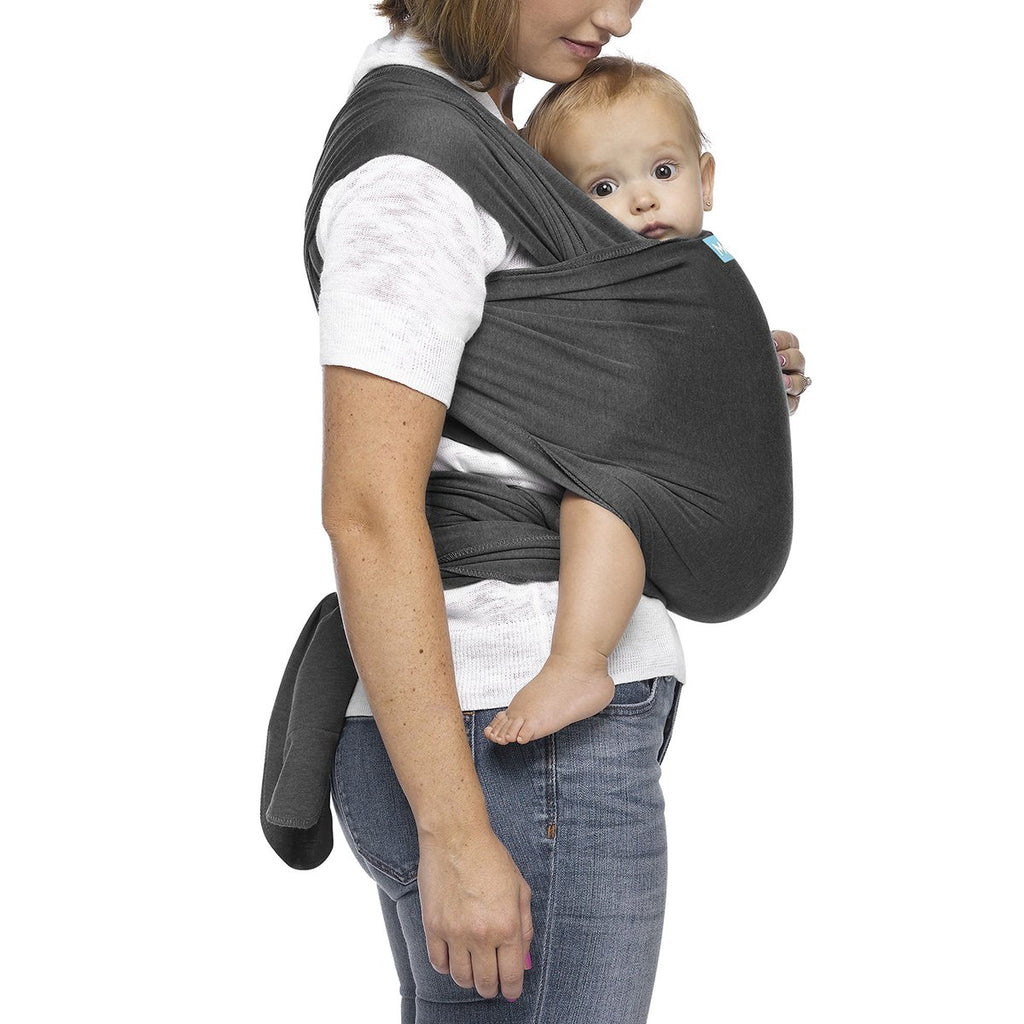 Moby Evolution Wrap Baby Carrier in Charcoal - Urban Stroller