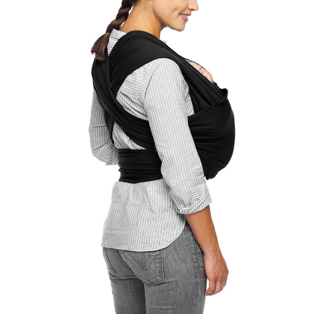 Moby Classic Wrap Baby Carrier in Black - Urban Stroller
