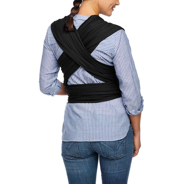 Moby Evolution Wrap Baby Carrier in Black - Urban Stroller