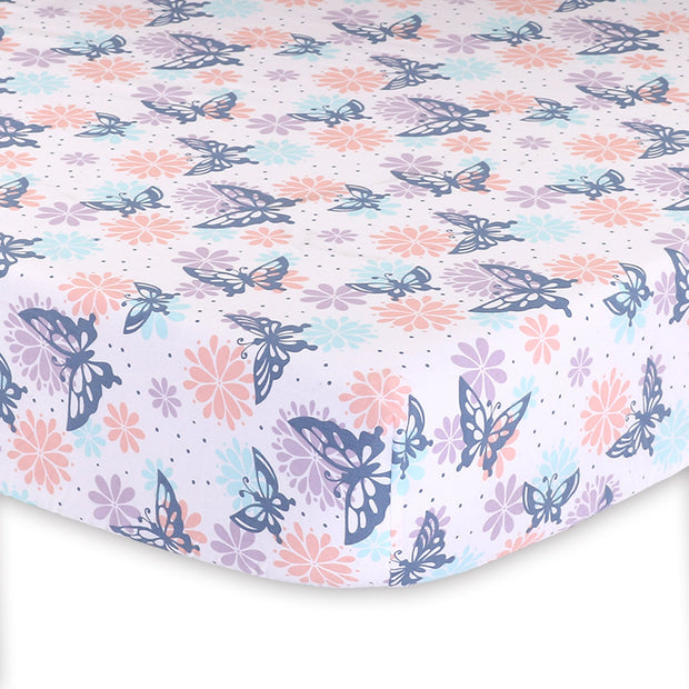 The Peanutshell Wildflower Fitted Crib Sheet - Urban Stroller