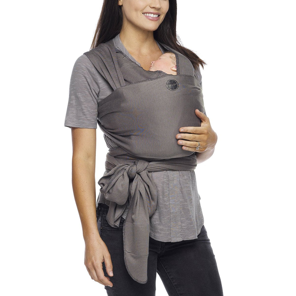 Moby Evolution Wrap Baby Carrier in Grey Stripes - Urban Stroller