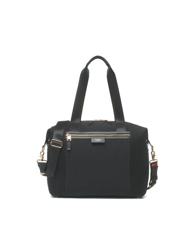 Storksak Stevie Luxe Black Scuba Diaper Bag