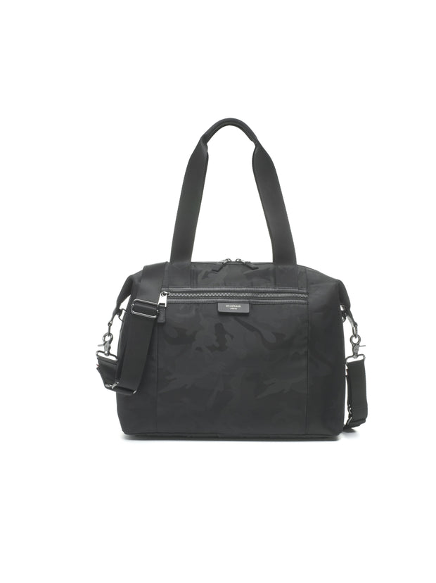 Storksak Stevie Luxe Camo Black Diaper Bag